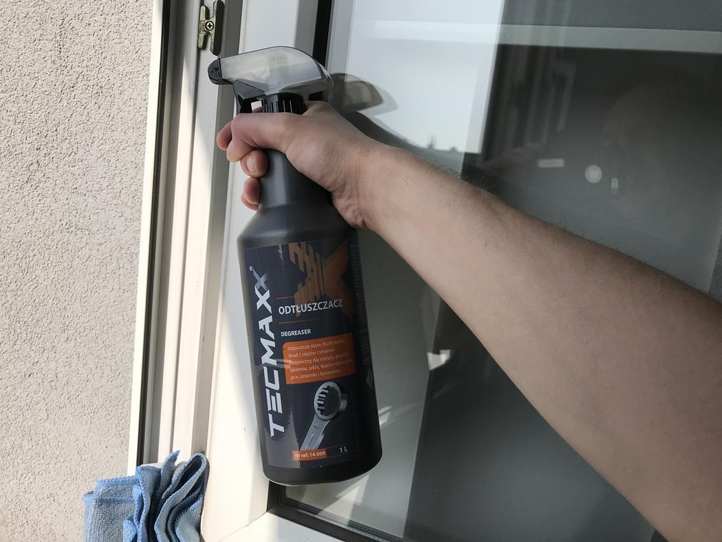 odtłuszczacz Tecmaxx okno